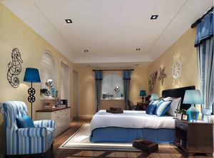地中海风格卧室设计效果图