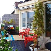 高层阳台休闲桌椅设计