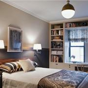 卧室飘窗书桌书架