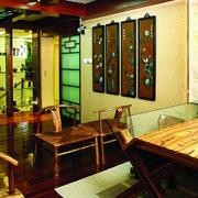 中式古韵书房背景墙装饰