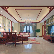 中式客厅装修整体图