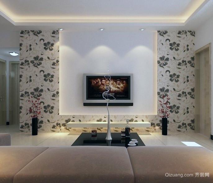 豪华的大户型欧式客厅电视背景墙效果图