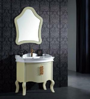 全新别墅简欧风格卫生间浴室柜装修图
