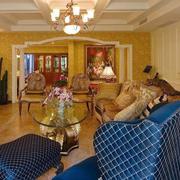 欧式客厅背景墙装饰