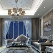 欧式客厅简约风格落地窗装饰