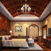 复式楼精致美式卧室