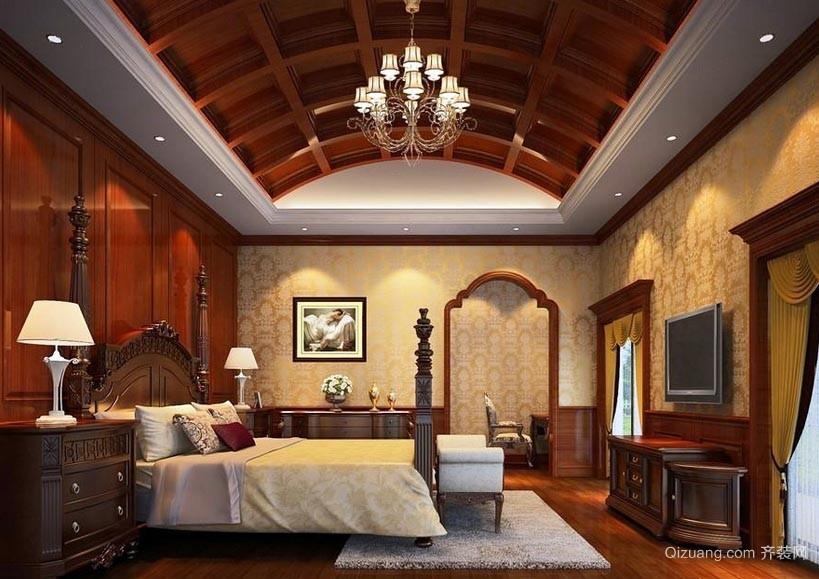 大户型美式风格30平米卧室装修效果图