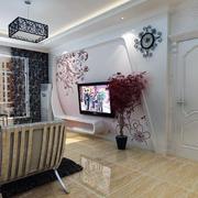 客厅电视背景墙图案设计