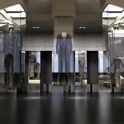 后现代风格展厅玻璃隔断