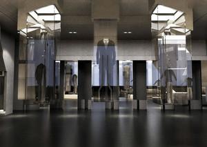 2015全新现代简约风格服装展厅装修效果图