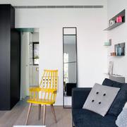 棕色欧式公寓内景图