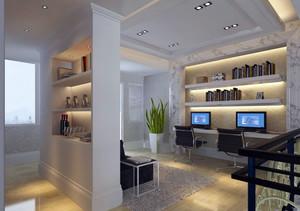 现代简约风格书房吊顶设计