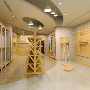 简约风格展厅木制柜台装饰