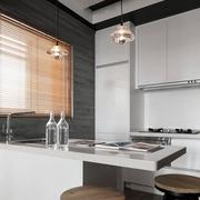 公寓厨房白色吧台