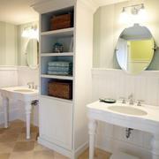 简欧整体嵌入式卫生间柜子装饰