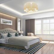 卧室石膏线装修飘窗图