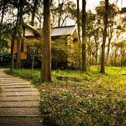 夕阳下木屋装修设计
