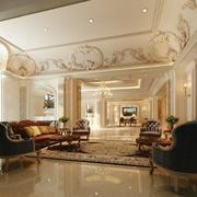 简欧风格客厅瓷砖