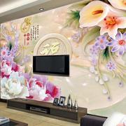 现代简约风格山水画背景墙设计