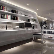 后现代风格书房整体置物架设计