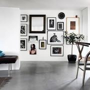 公寓黑白客厅装修