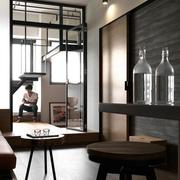 公寓客厅玻璃折叠门欣赏