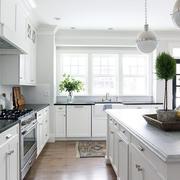 公寓白色厨房家装设计成品图