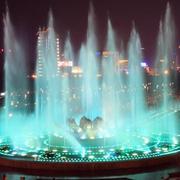 圆形的喷泉展示