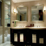 简欧别墅卫生间柜子设计