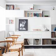 公寓优雅型餐厅和吧台设计