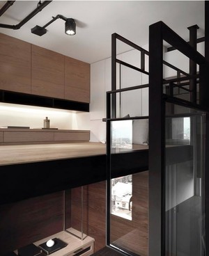 微型住宅:72平米单身汉公寓装修效果图