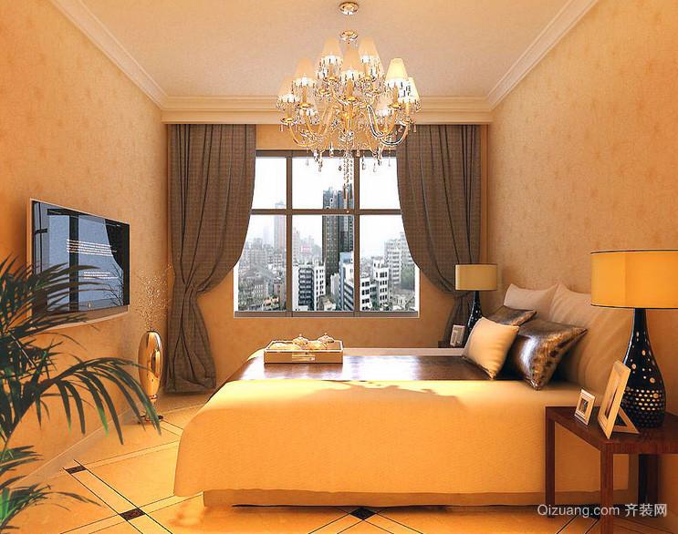 现代 欧式大户型 卧室石膏线 装修效果图