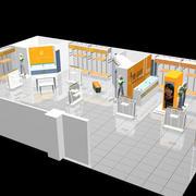简约展厅3D图示效果图