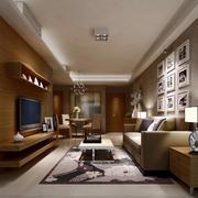 简约客厅白色瓷砖