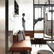 公寓客厅玻璃隔断设计