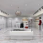 白色简约店面设计图片