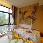 儿童房木制背景墙装饰