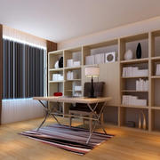 后现代风格原木设计书房装饰