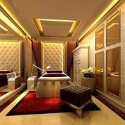 金黄色调美容院设计