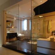 暖色调玻璃门设计