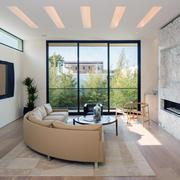 别墅客厅玻璃落地窗设计