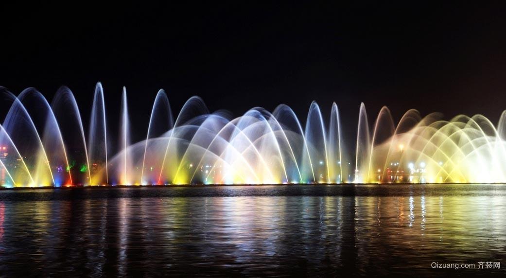 让人欣喜若狂的广场音乐喷泉效果图