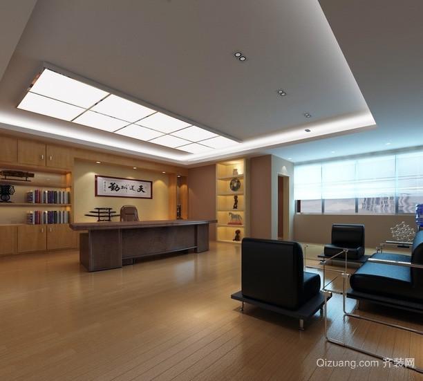 现代都市总经理办公室装修设计效果图