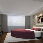 卧室石膏线装修窗帘图