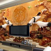中式风格栩栩如生背景墙装饰