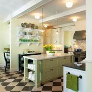 美式绿色清新厨房