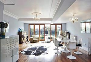 别墅白色优雅型客厅设计