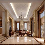客厅锃亮的瓷砖