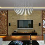 客厅电视背景墙吊灯图