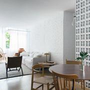 别墅实木型餐桌设计